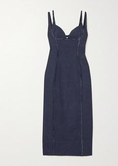 Jacquemus Valerie Cutout Canvas Midi Dress