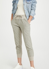 James Perse Cotton Linen Mixed Media Pants