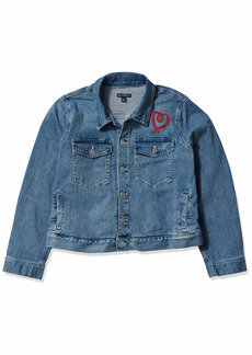 J.Crew Mercantile Women's Cropped Embroidered Denim Jacket  M