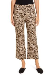 J.Crew Leopard Print Chino Crop Flare Pants