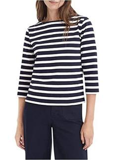 J.Crew Structured Boatneck T-Shirt in Stripe
