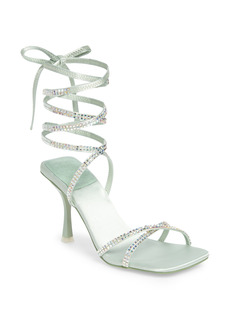 Jeffrey Campbell Jeffery Campbell Shimmer Strappy Ankle Tie Sandal (Women)