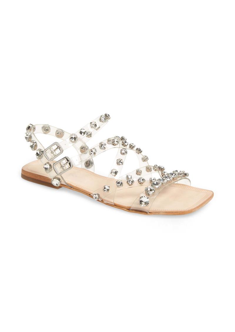 Jeffrey Campbell Calath-JV Crystal Embellished Strappy Sandal (Women)