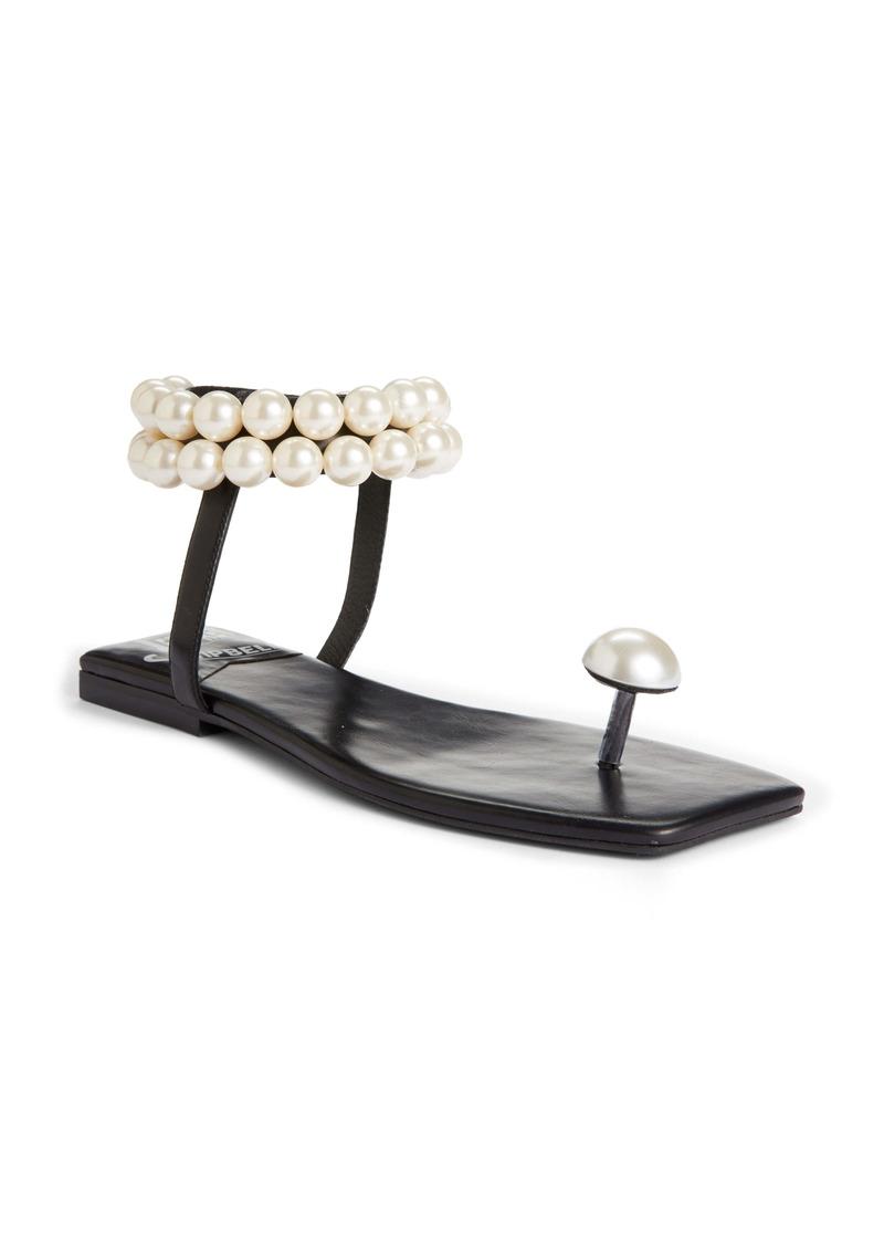 Jeffrey Campbell Chateau Embellished Ankle Strap Sandal (Women)