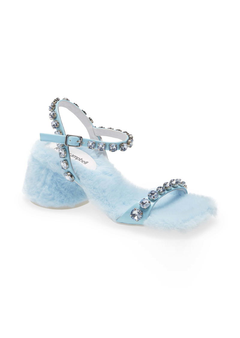 Jeffrey Campbell Lover Embellished Faux Fur Sandal (Women)