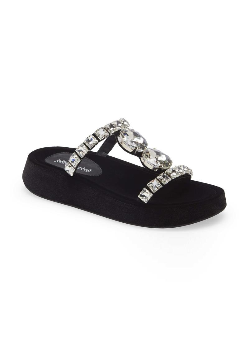 Jeffrey Campbell Zhao Crystal Embellished Slide Sandal (Women)