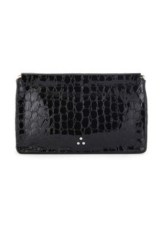 Jerome Dreyfuss Clic Clac mock-croc clutch