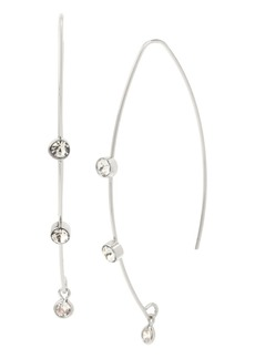 Jessica Simpson Cubic Zirconia Stone Threader Earrings