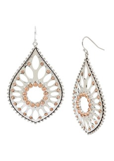 Jessica Simpson Openwork Teardrop Earrings, 2.6""