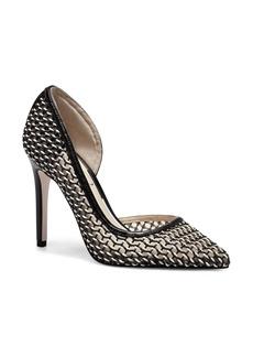 Jessica Simpson Pieree Woven Pointed Toe Pump (Women)