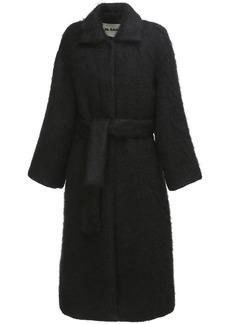Jil Sander Belted Wool & Mohair Coat