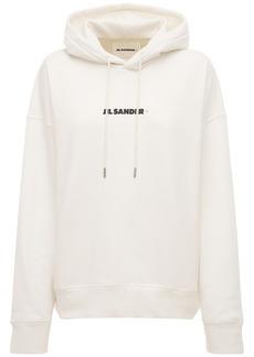 Jil Sander Logo Cotton Jersey Sweatshirt Hoodie