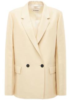 Jil Sander Wool & Silk Double Breasted Blazer