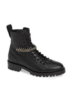 Jimmy Choo Cruz Crystal Embellished Biker Boot (Women)