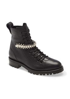 Jimmy Choo Cruz Embellished Combat Boot (Women)