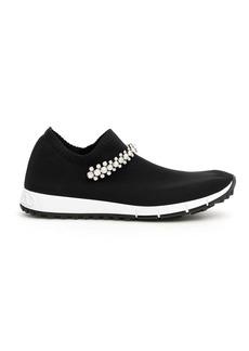 Jimmy Choo Verona Sock Sneakers Crystal Bracelet