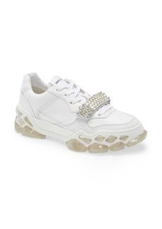 Jimmy Choo Crystal Embellished Low Top Sneaker (Women)
