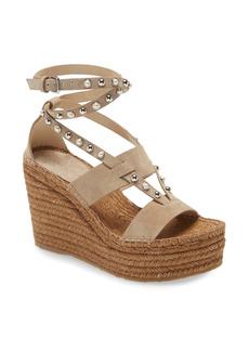 Jimmy Choo Danica Studded Espadrille Wedge Sandal (Women)