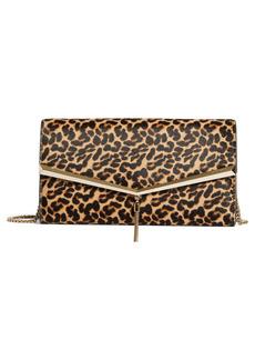 Jimmy Choo Elish Leopard Print Leather Clutch