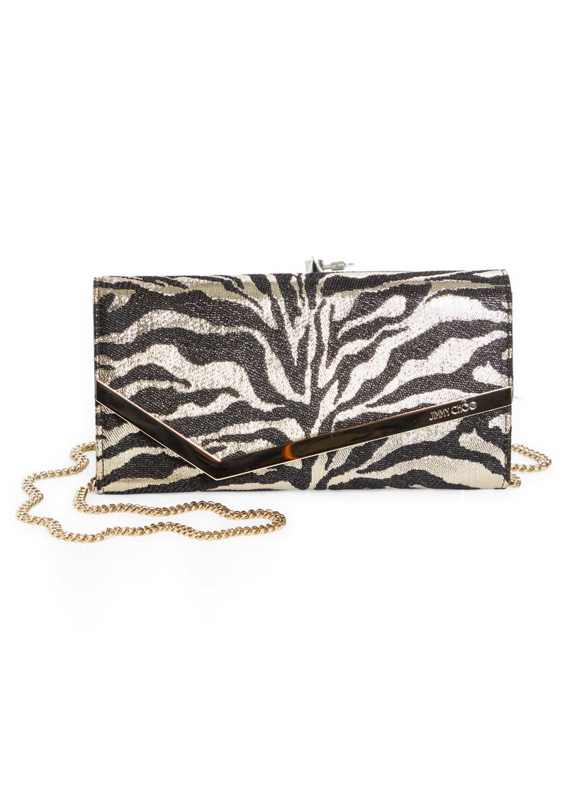 Jimmy Choo Emmie Metallic Animal Print Clutch (Nordstrom Exclusive)