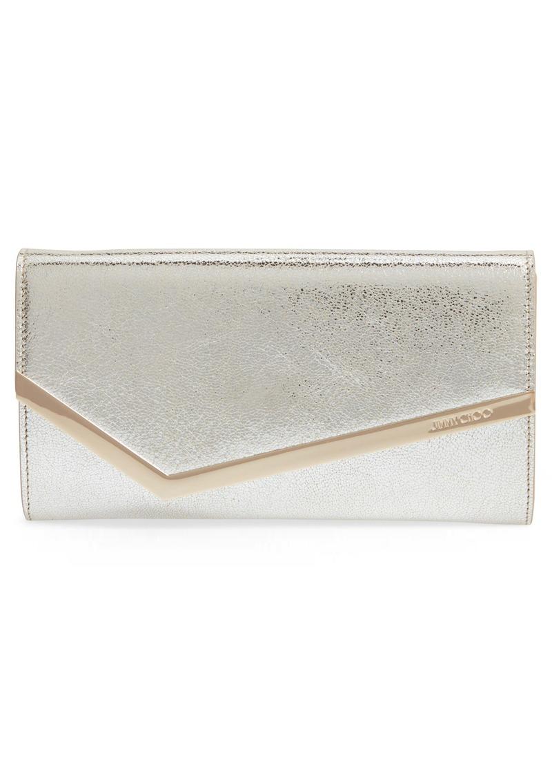 Jimmy Choo Emmie Glitter Leather Clutch