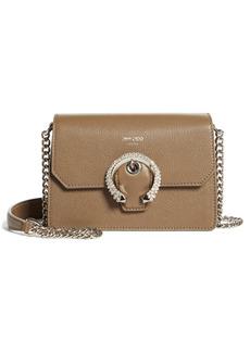 Jimmy Choo Madeline Crystal Buckle Leather Crossbody Bag