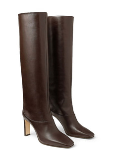 Jimmy Choo Mahesa Square Toe Knee High Boot (Women)