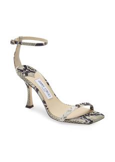 Jimmy Choo Marin Snakeskin Print Ankle Strap Sandal (Women)