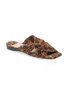 Jimmy Choo Narisa Leopard Print Twist Slide Sandal (Women)