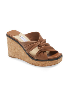 Jimmy Choo Narisa Twist Platform Wedge Sandal (Women)