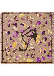 Jimmy Choo leopard print scarf