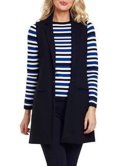 Joan Vass Long Ponte Vest with Button Closure