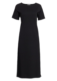 Joan Vass Petite Cotton Midi Dress