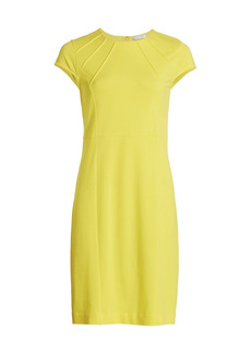 Joan Vass Petite Stretch-Pique Sheath Dress