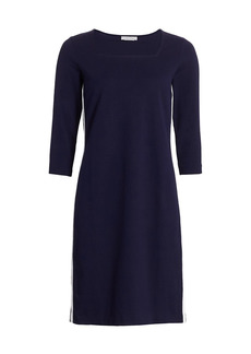 Joan Vass Racing Stripe Dress