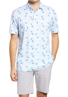 johnnie-O Crewe Floral Performance Polo