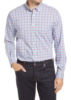 johnnie-O Kellen Plaid Performance Button-Down Shirt