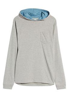 johnnie-O Men's Gunnar Pinstripe Long Sleeve Hooded T-Shirt
