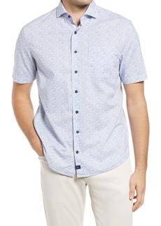 johnnie-O Miguel Print Short Sleeve Button-Up Shirt