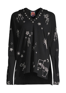 Johnny Was Alogl Celestial Embroidered Hoodie