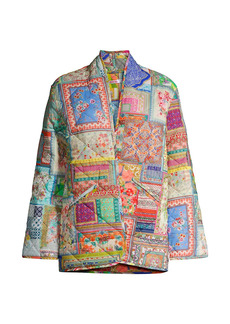 Johnny Was Annika Quilted Patchwork Jacket