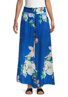 Johnny Was Arlow Floral Silk Pants