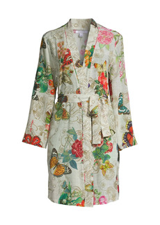 Johnny Was Evelyn Floral Silk Robe