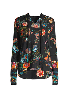 Johnny Was Floral Printed Pullover Hoodie
