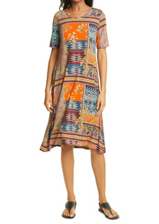 Johnny Was Allie Flower Mixed Print Swing Dress