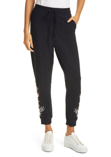 Johnny Was Caspian Embroidered French Terry Joggers
