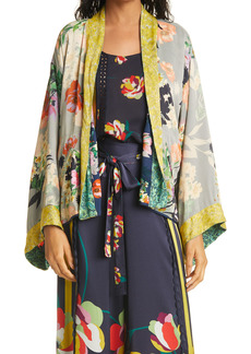Johnny Was Rebecca Reversible Floral Open Jacket