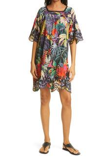 Johnny Was Shari Tropical Print Silk Dress