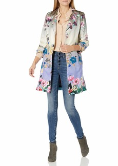 Johnny Was Women's Floral Printed Silk Blazer