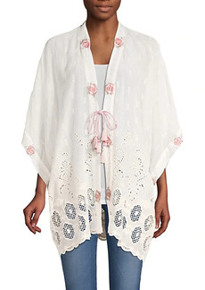 Johnny Was Kahlil Eyelet Embroidered Kimono